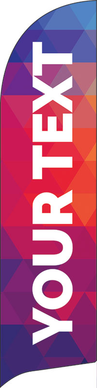 Banners, Geometric Bold Your Text Here, 2' x 8.5'